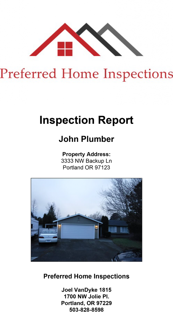 Sample Sewer Report | Preferred Home Inspections